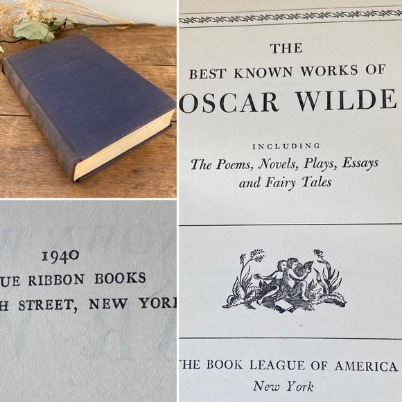Vintage 1940 Oscar Wilde Book Best Known Works
